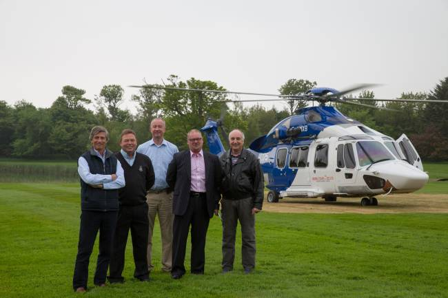 EC175 landed- Trump's historic Scottish mansion & lodge